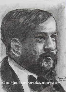 Claude Debussy d'après la photographie de Nadar
