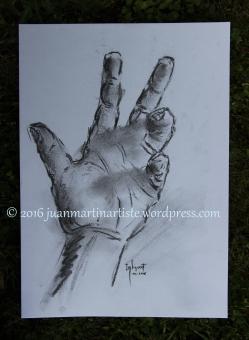 Main de l'artiste