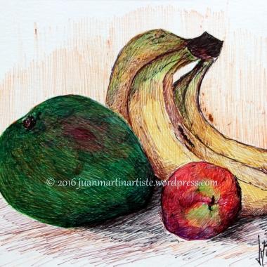 Mangue, bananes et pêche
