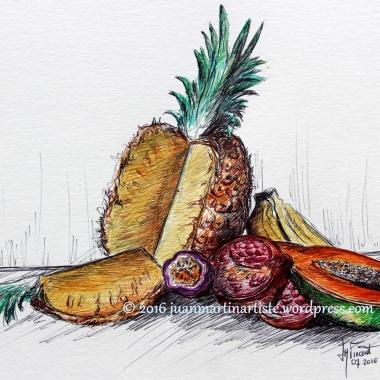 Nature morte aux fruits exotiques