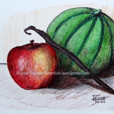 Pomme, vanille et melon