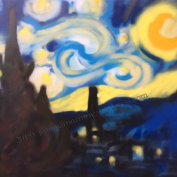 Nuit étoilée - Bombe aérosol - d'après Van Gogh