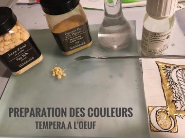 Préparation couleurs
