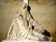 Sacy-le-Grand_(60),_église_Saint-Germain,_bas-côté_nord,_Pietà